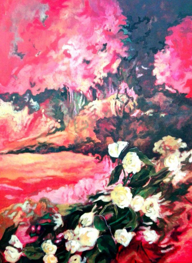 Hermosa obra de arte realizada en Acrilico sobre lienzo para dar energía, luminosidad y calidez a tu espacio.
