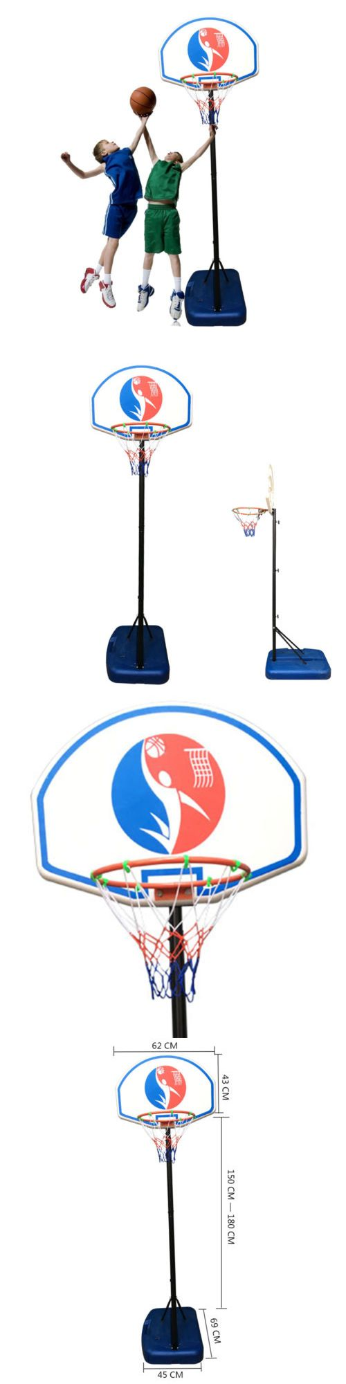 Basketball: 6Ft Adjustable Basketball Hoop System Stand Outdoor Net Goal For Youth Kids -> BUY IT NOW ONLY: $33.99 on eBay!