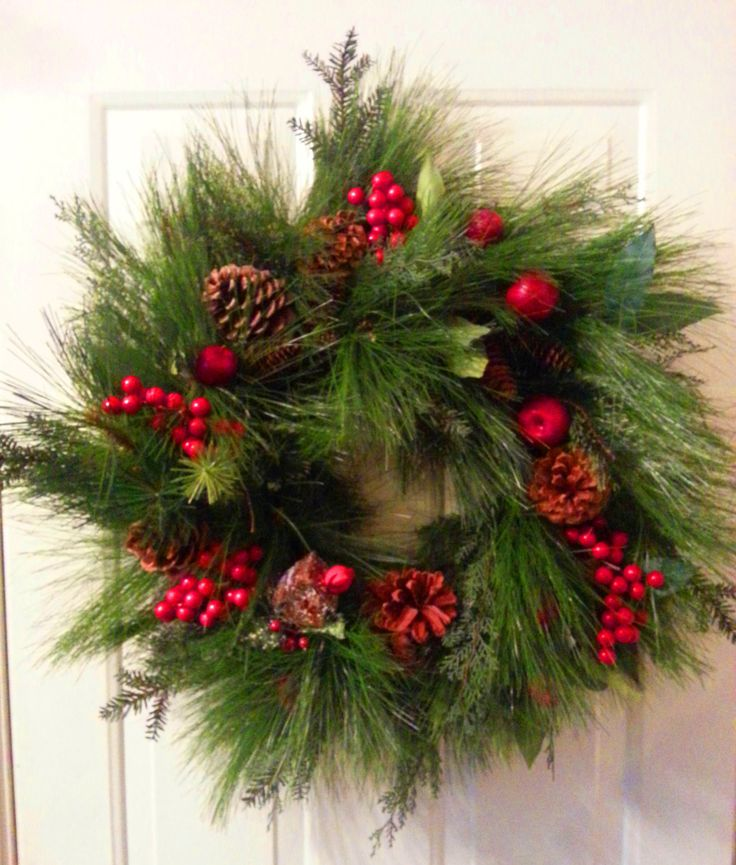 Traditional Pine and Balsam Wreath Christmas by ShadesOfTheSeasons, $70.00