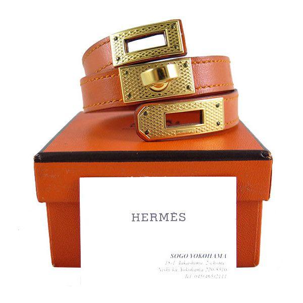hermes kelly double tour bracelet guilloche gold hardware