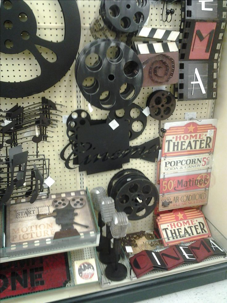 Hobby Lobby things for our future movie room