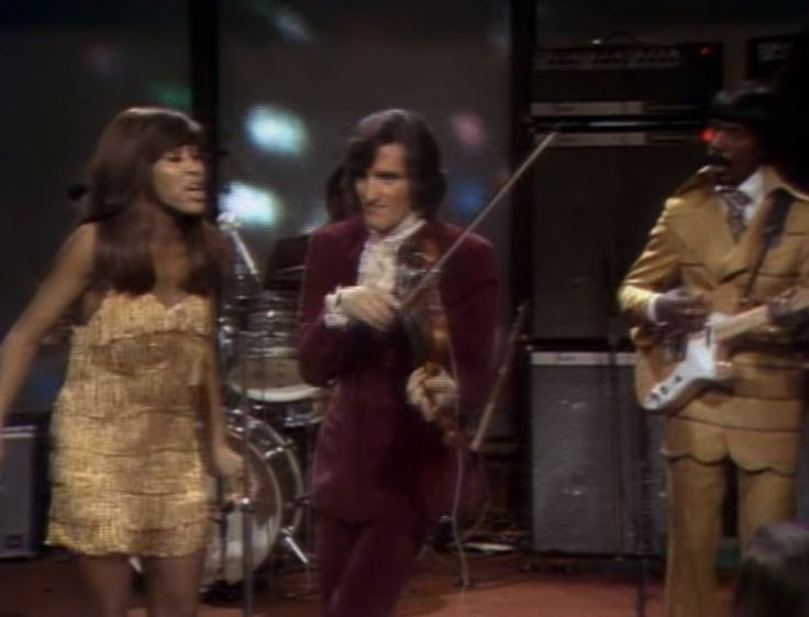 "twixnmix: "" Ike and Tina Turner on Playboy After Dark, December 1969. 30-year-old Tina Turner performing with Ike Turner and The Ikettes at Hugh Hefner's Playboy Penthouse with a 4 songs showcase and..."