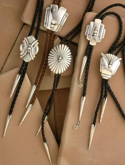 Sterling silver Bolo Ties by David Dear in Santa Fe, NM  daviddear.com