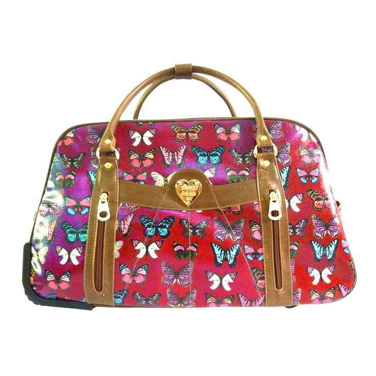 Domo Luggage UK   ... Anna-Smith-Butterfly-Print-Luggage-Travel-Suitcase-Trolley-Holdall-Bag