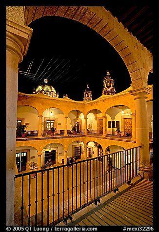 Inside courtyard of the Palacio de Gobernio. Zacatecas, Mexico