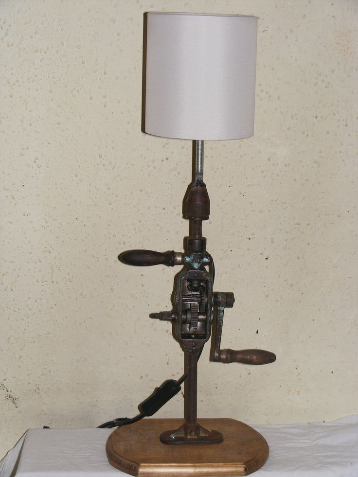 Hand drill table lamp 2