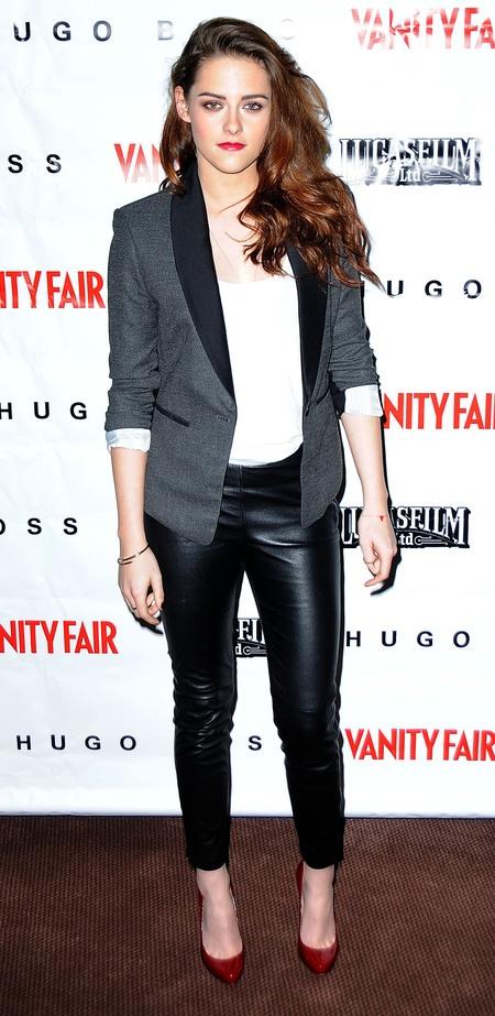 Kristen Stewart Looks Chic in BCBGMAXAZRIA at On the Road Vanity Fair Screening on http://www.shockya.com/news