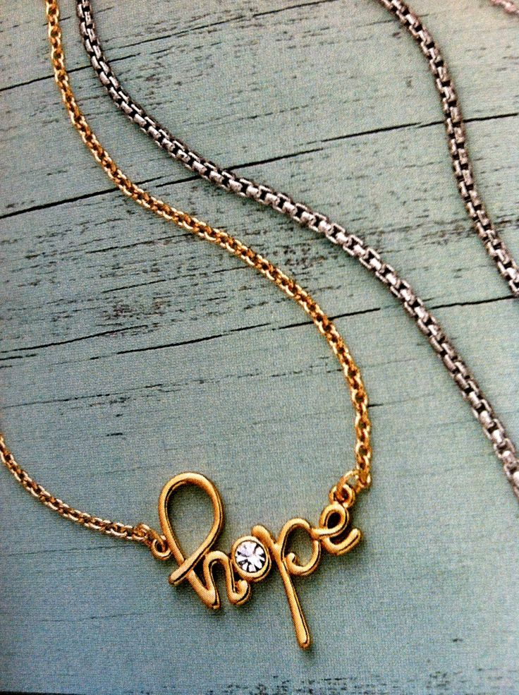 "Hopeful 16"" Necklace $39"