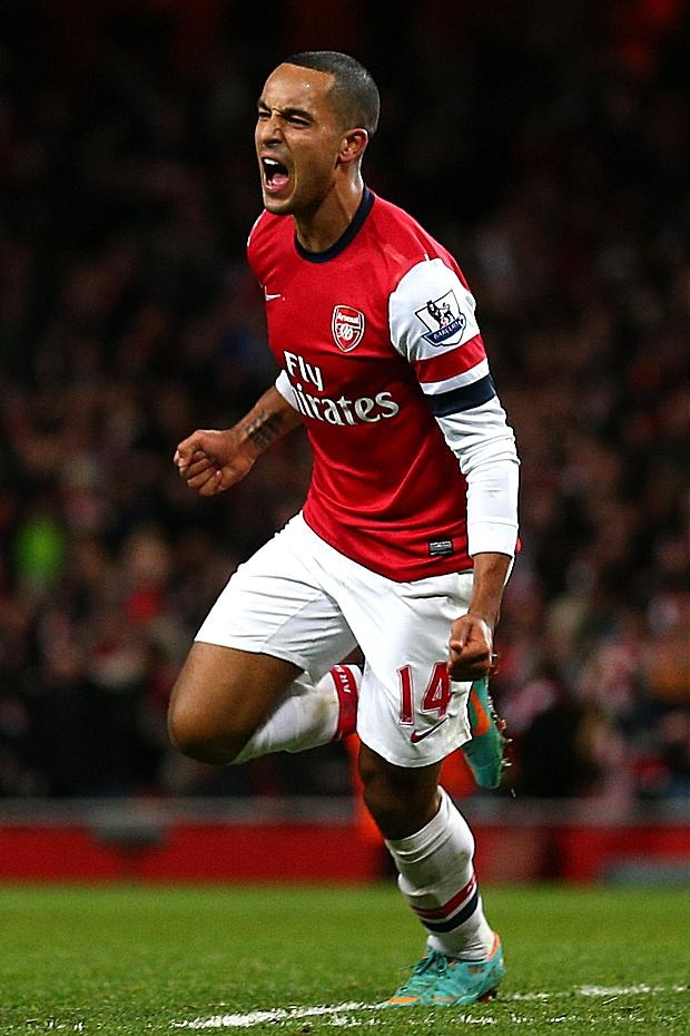 "THEO WALCOTT last night hauled boss Arsene Wenger out of jail and roared: ""That's why you must play me up front."""