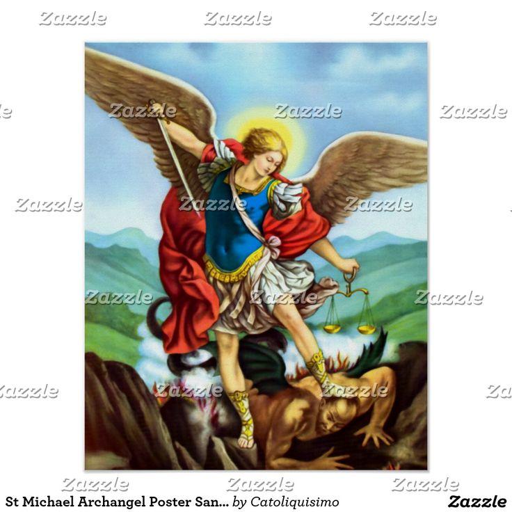 St Michael Archangel Poster San Miguel Arcangel | Zazzle.com