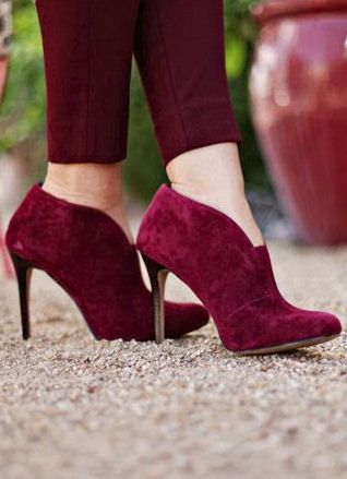 Burgundy Ankle Boots ♥