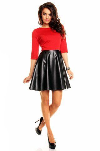 Koktail kjole Mayaadi 003 sort og rød – Gledelig .no