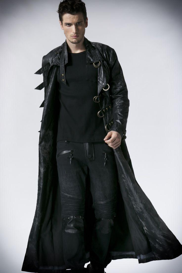 Manteau long homme noir