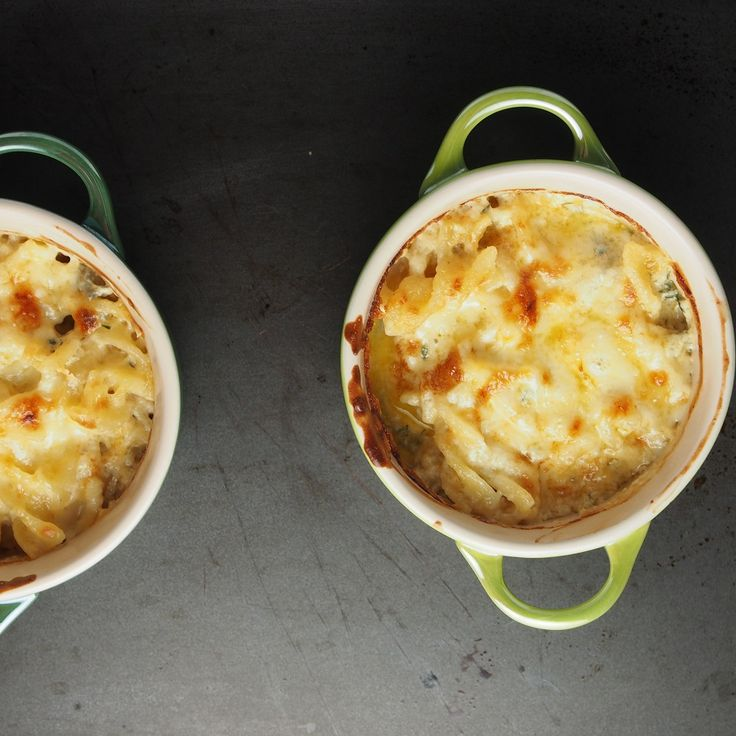 A delightfully cheesy baked macaroni recipe. Great for using over left over pieces of cheese.