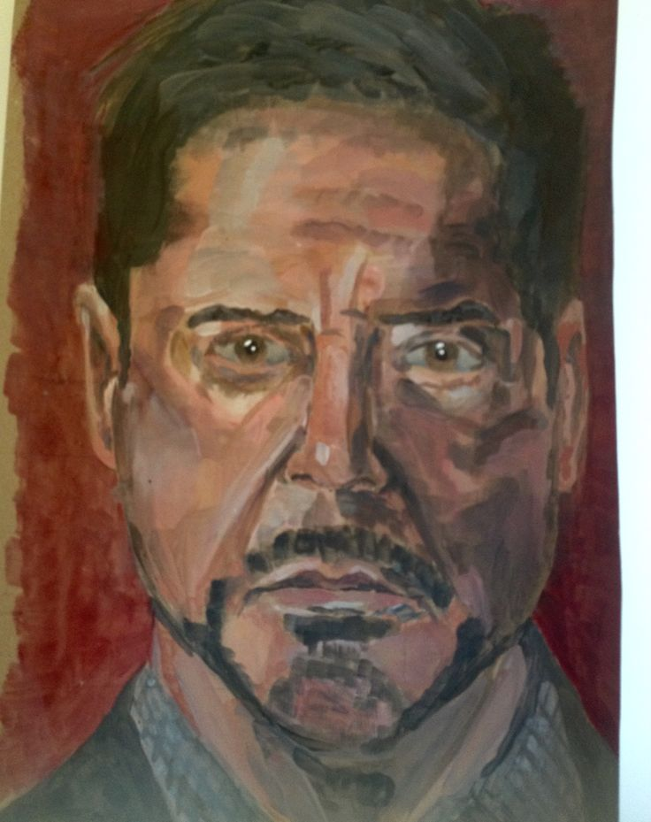 Acrylic study of Robert Downing JR  by artist smcq