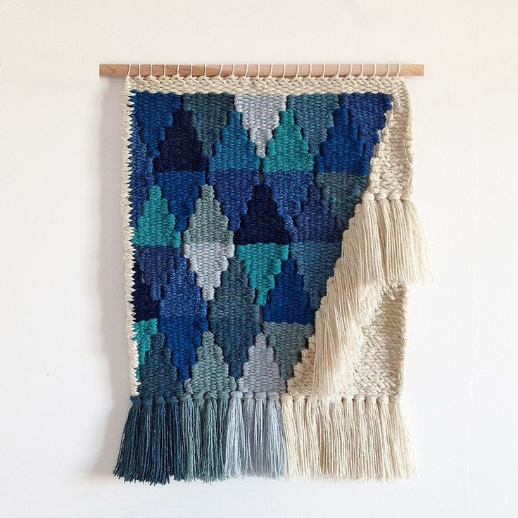 96FR - Size : L - Woven Wall Hanging by Only a Paper Moon 96FR Taille : L Tissage mural par Only a par OnlyAPaperMoonWeave