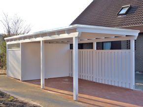 die besten 25 carport mit ger teraum ideen auf pinterest garage mit carport garage. Black Bedroom Furniture Sets. Home Design Ideas