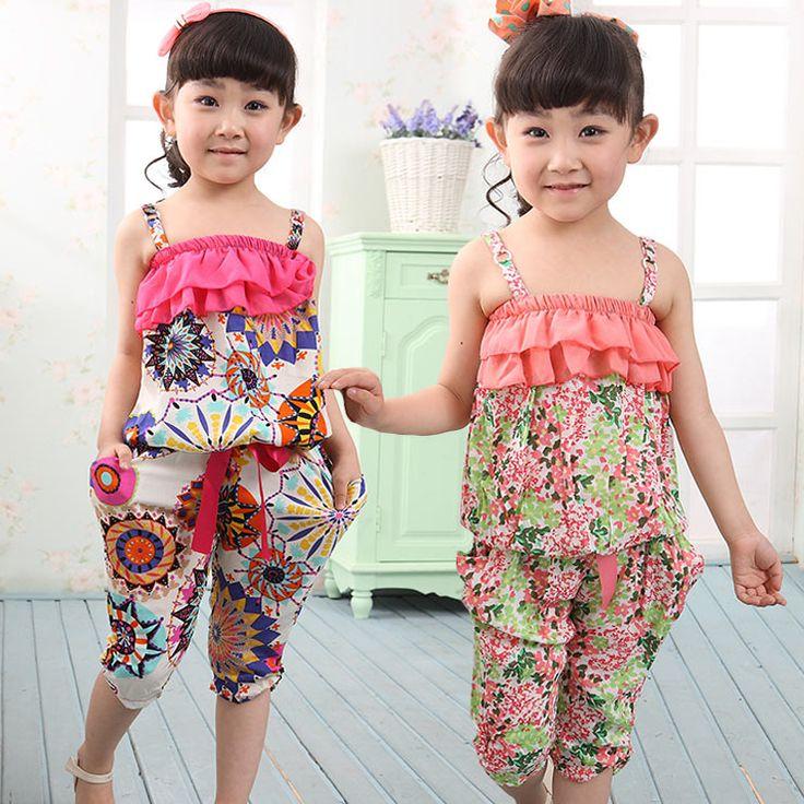 NEW ARRIVAL 2013 Children Summer Clothing Sets Girl