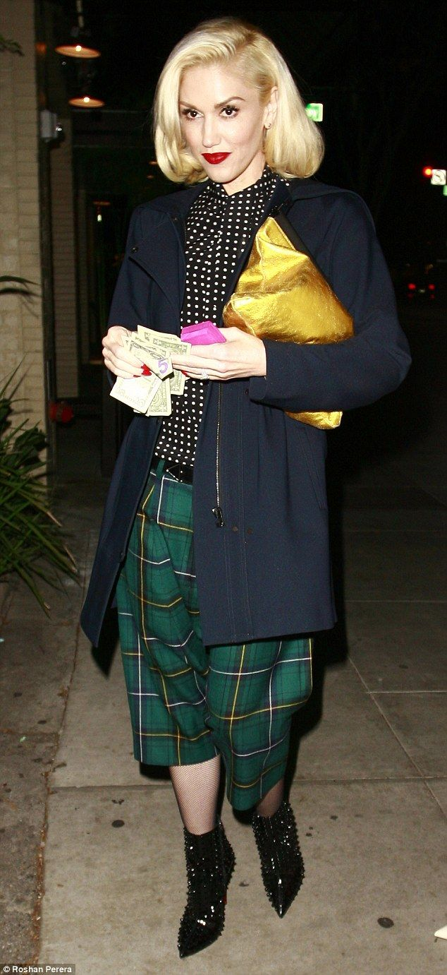 If I was a rich girl: Gwen Stefani was pictured leaving a Beverly Hills restaurant on Wedn...