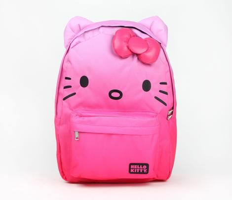 Hello Kitty Backpack: Pink Ombre... This is SO adorable! :)