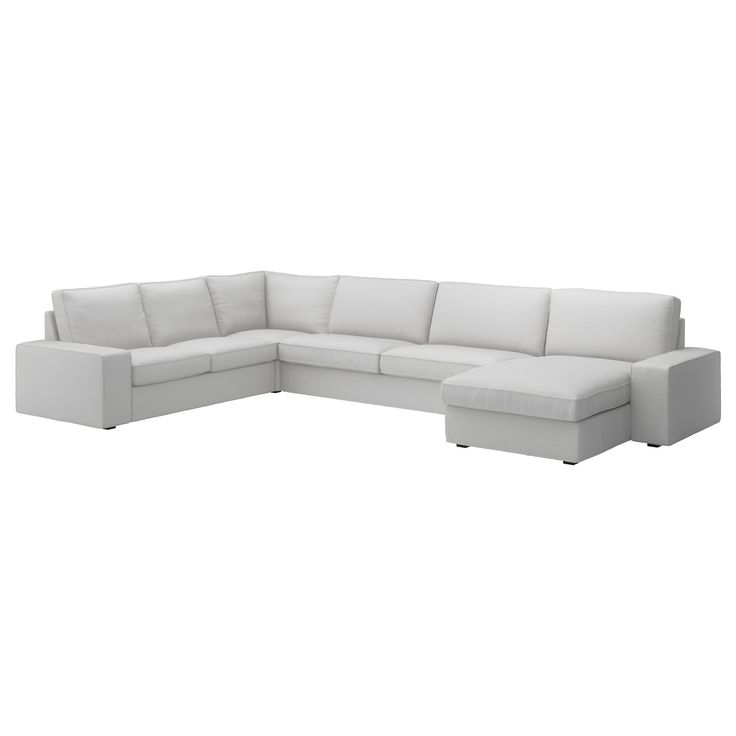 Tufted Sofa KIVIK Corner sofa seat With chaise longue ramna light grey Chaise longue Corner couch and Sofa tables