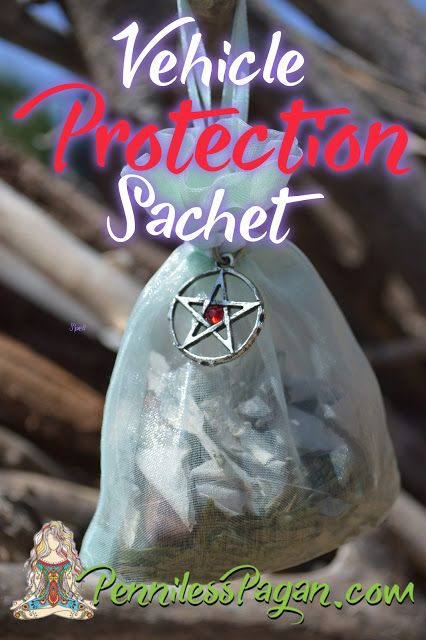 Vehicle Protection Sachet Spell from PennilessPagan.com #Pagan #Wiccan #Spell…