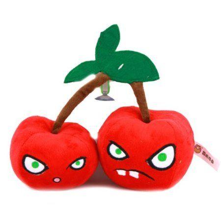 "Buy Plants vs Zombies Plush Toy Twin Cherry Bomb 14CM/5.5"" Tall ..."
