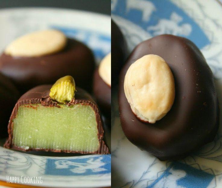 Chocolats maison à la pâte d'amande