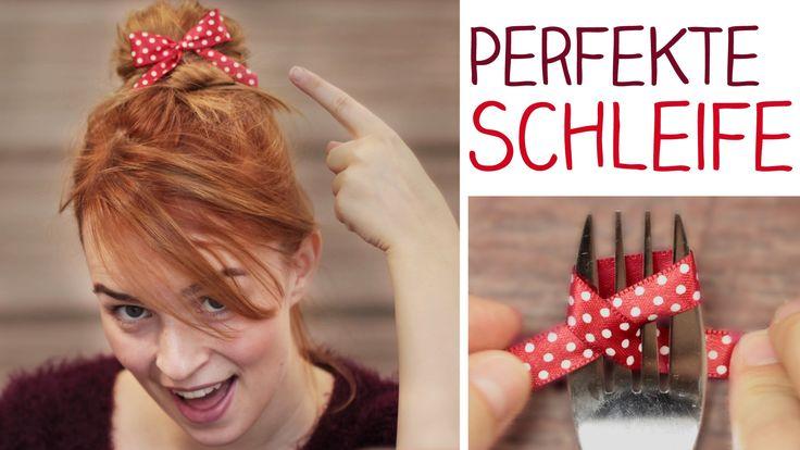 Wie man eine perfekte Schleife bindet in nur 30 Sekunden mit Hilfe einer Gabel? Ganz einfach und super für die Haare, zum Verpacken von Geschenken oder als D...