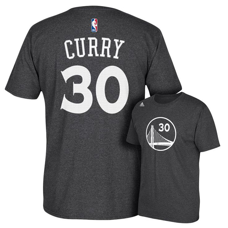 Adidas Golden State Warriors Stephen Curry Player Name and Number Tee - Men, Size: Large, Grey