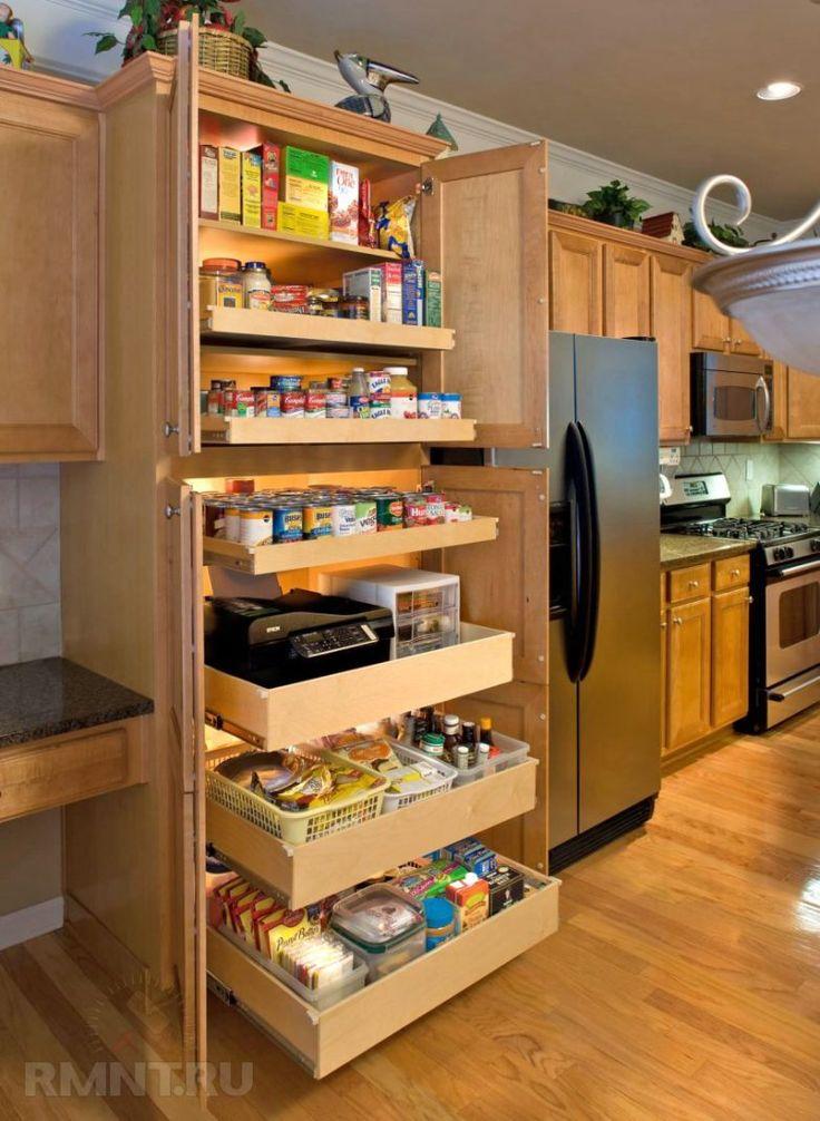 Кухня — это комната, в которой вечно не хватает места! Кофеварка, блендер, электрочайник, запас продуктов, специи, кастрюли и другая посуда — всё это необходимо где-то поставить, разместить, повесить. В этой статье я предложу вам идеи для организации необычных мест хранения на кухне.
