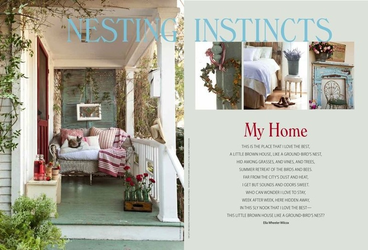 108 best decor romantic prairie style images on pinterest for Cottage design magazine