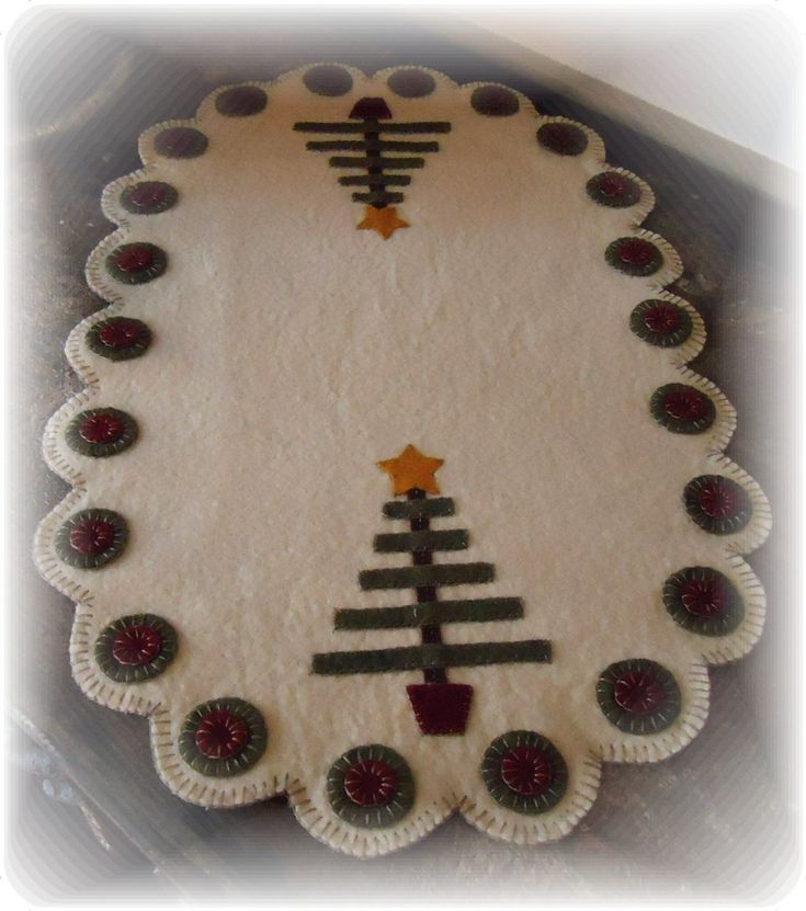 Easy Penny Rug Patterns | Christmas Tree Penny Rug E-Pattern