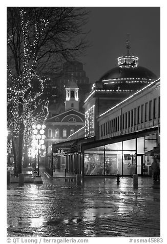 Quincy Market & Faneuil Hall, Boston, MA.