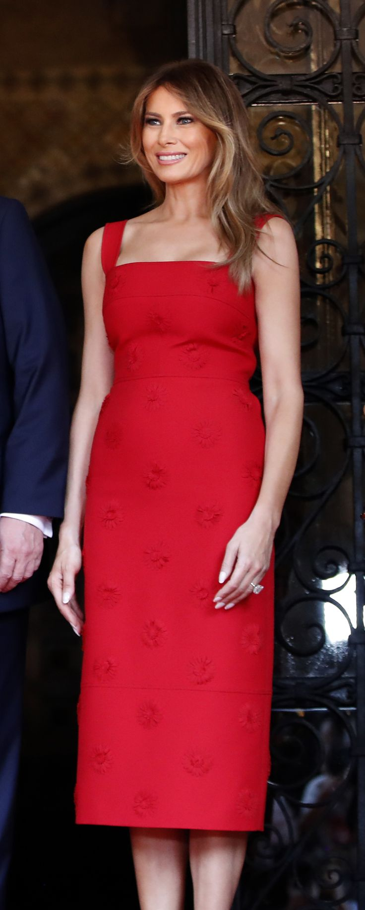 First Lady Melania At Mar-a-Lago Resort In Florida On Thursday April 6th 2017