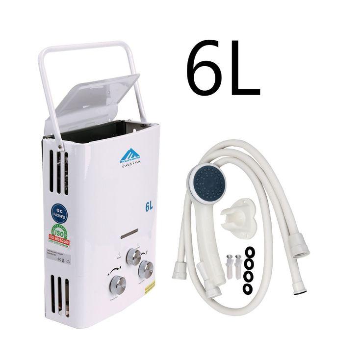 (Schip uit EU) 6L Instant LPG Boiler Propaan Tankless Boiler Indoor Outdoor Camping Wandelen Draagbare CE