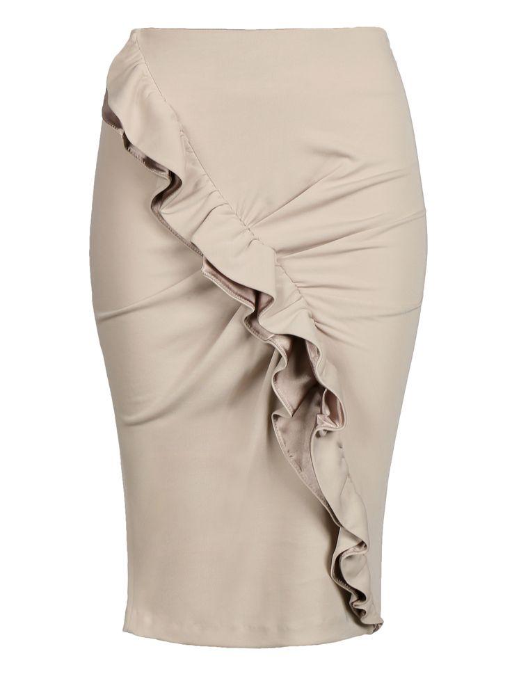 Купить со скидкой Emporio Armani бежевая юбка с драпировкой (33785) – распродажа в Боско Аутлет