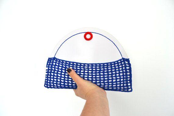 Mini borsetta in stile nautico marinaro, pochette estiva bianca, rossa, blu, trousse da spiaggia e da mare by VereV #italiasmartteam #etsy