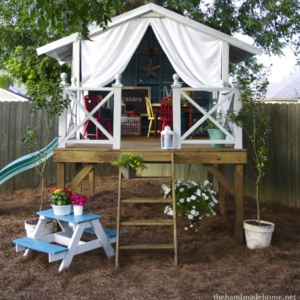best 25 kids clubhouse ideas on pinterest forts for kids play houses and treehouse kids - Playhouse Designs And Ideas