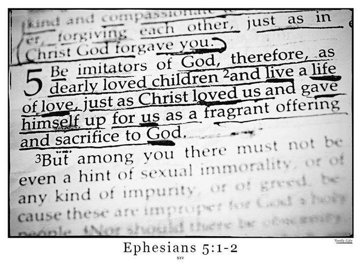 Ephesians 5:1-2 - http://www.versifylife.com/ephesians-5-1-2/