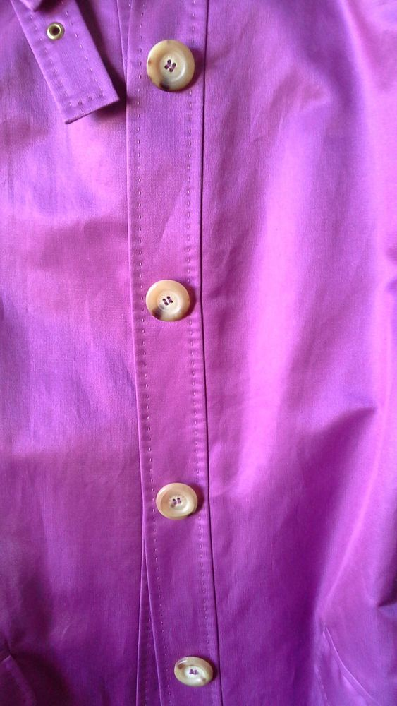 CELINE PURPLE COTTON /SILK Trench Coat/Jacket SIZE38 #Celine #Trench