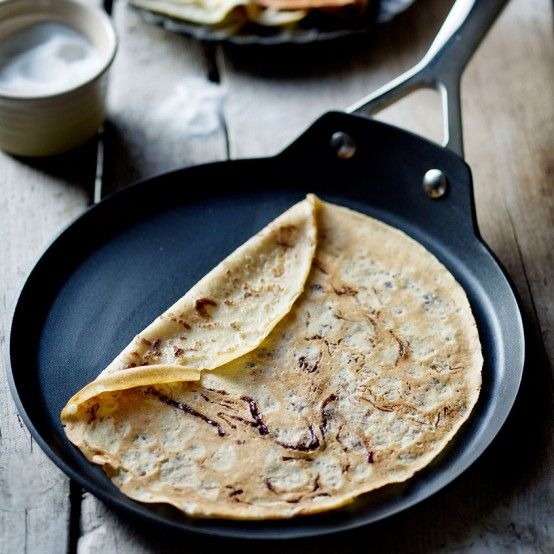 Add Nutella to your pancake batter for a richly indulgent weekend breakfast…