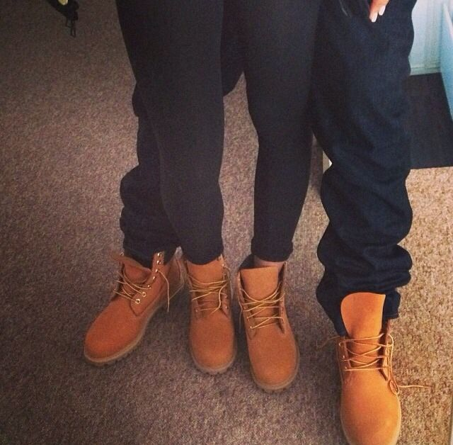 Matching Timberlands. I SO WANT A PAIR!!!