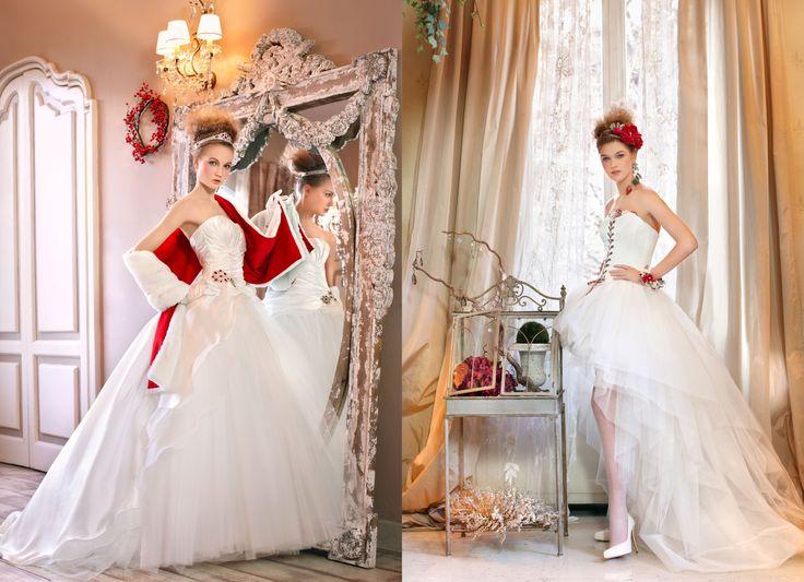 11 best Christmas wedding dresses images on Pinterest | Short ...