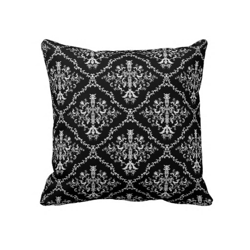 Black And White Patterned Throw Pillows : Black and White Decorative Pillow