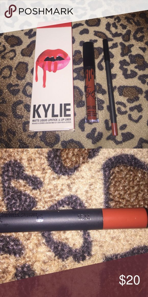 Kylie Jenner lip kit ‼️‼️❤️ ‼️Kylie Jenner lip kit ‼️ - never used before - original - I bought it for me but I wasn't happy with the color 😏 but it's a great color I was just looking for a more blood red 💁 original price was 29 but I will sell for 16 down ! since its ORIGINAL Makeup Lipstick