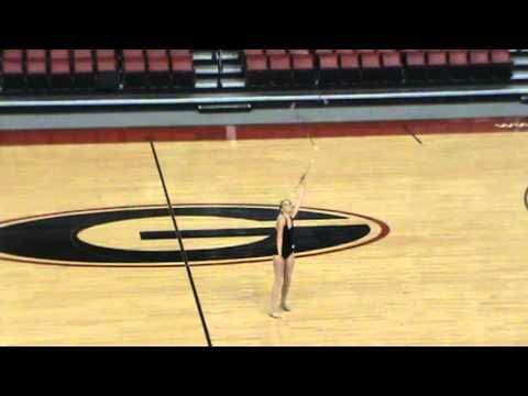 Carly Baker UGA Majorette tryout routine 2013