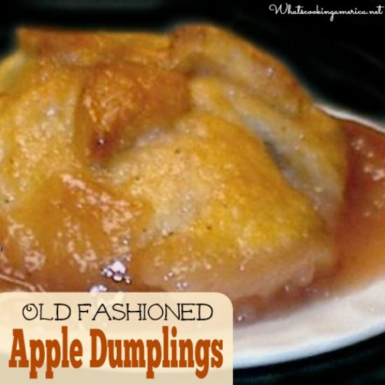 Old Fashioned Apple Dumplings Recipe  |  whatscookingamerica.net  | #apple #dumplings