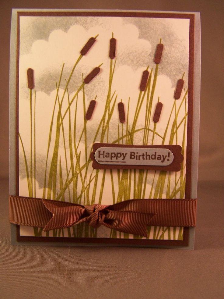 Masculine Cattails Birthday or Sympathy layout - love it!