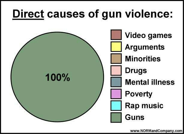 Reasons for gun violence says the